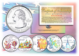 2000 US Statehood Quarters HOLOGRAM *** 5-Coin Complete Set *** w/Capsul... - $12.82