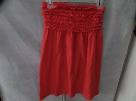 OP Red Strapless Top Shirt M Ruffle Stretch - $4.94