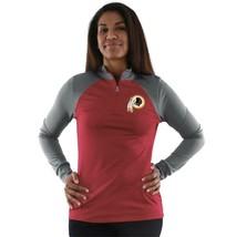 NEW WOMENS WASHINGTON REDSKINS OFFICIAL NFL QUARTER ZIP PULLOVER SHIRT SZ S - $33.33