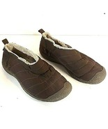 Keen Women's Cush Howser Brown Quilted Fleece Lined Comfort Slip On Shoe... - $28.95