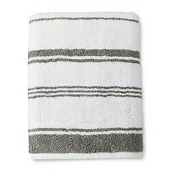 "Threshold Performance Bath Towel Classic Grey Cotton 30"" x 54""  NEW WITH TAGS"