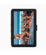 Spring Break D10 Black Cigarette Case Metal Wallet RFID Protection - $9.46