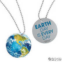Globe Dog Tag Necklaces - $7.74