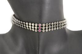 Women Gunmetal Pewter Fashion Jewelry Mesh Metal Choker Necklace Bling P... - $8.81
