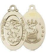 AIR FORCE MEDAL - 14KT Gold -  St. Michael the Archangel Medal NO Chain ... - $841.99