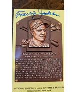 TRAVIS JACKSON SIGNED AUTO HALL OF FAME HOF PLAQUE POSTCARD NEW YORK GIA... - $29.99
