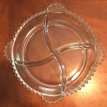 Vintage Imperial Glass CANDLEWICK DIVIDED RELISH DISH 4 Handles NR - $31.35