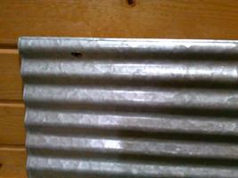 Vintage Corrugated galvanized metal sheet Perfect for framing and crafts... - £10.78 GBP