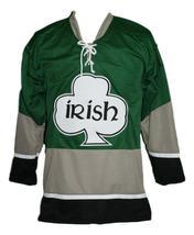 Custom Name # Ireland Irish Shamrock Retro Hockey Jersey New Green Any Size image 1
