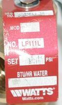 Watts 0121746 LF111L-125 1/2 1/2 Inch Lead Free Pressure Relief Valve image 3