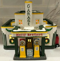 The Original Snow Village:  Holly Brithers Garage Lighted Department 56 ... - $84.14