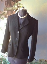 Anne Klein Suits Long Sleeve Black Pinstripe Suit Jacket Blazer Size 10 - $35.64