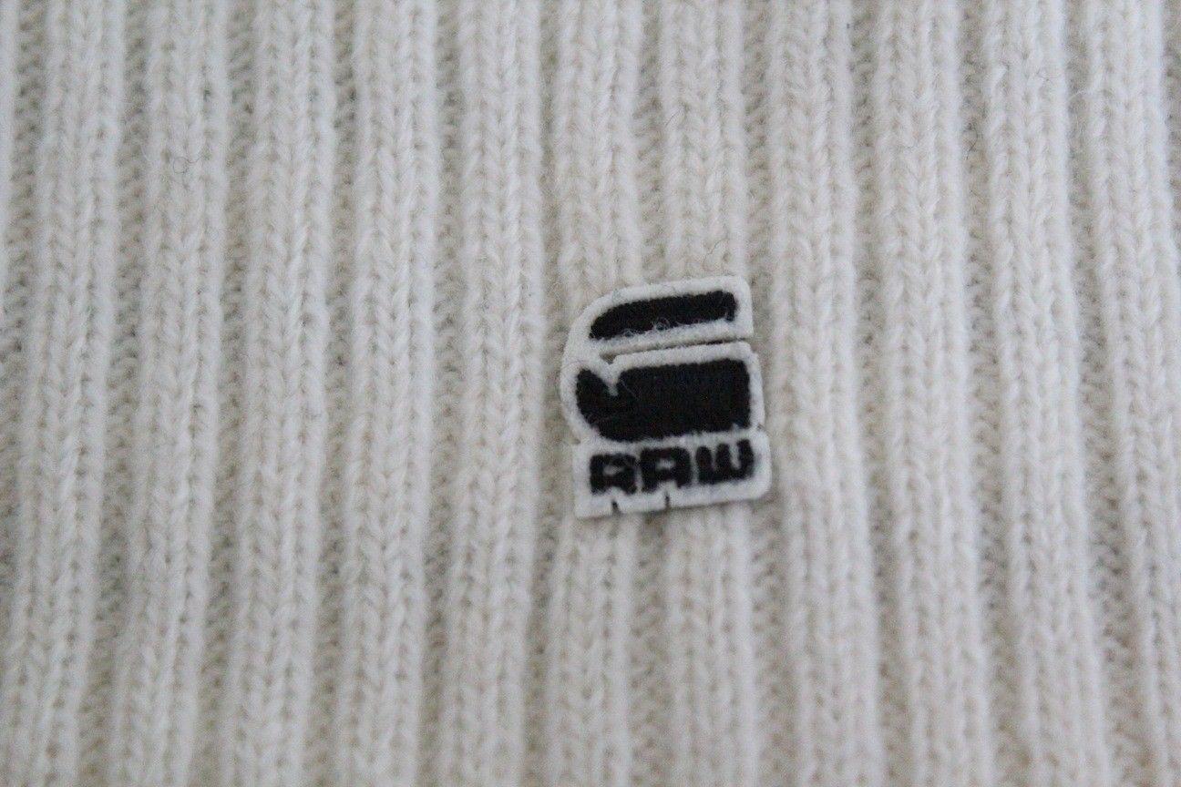 G Star Raw Correctline CL Justin Stripe Beanie Hat in Milk BNWT 100% Authentic