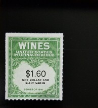 1942 $1.60 U.S. Internal Revenue Cordial & Wine, Green Scott RE149 Mint ... - $4.98