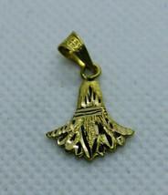 Egyptian Handmade Ancient Egyptians Lotus Flower 18K Yellow Gold Pendant 1.6 Gr - $196.57