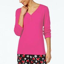 New S Charter Club Women's Soft Cotton Long Sleeve Pajama Top Henley Sle... - $11.98