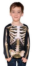 Faux Real Bambini Scheletro Halloween Ghoul Spaventosa Costume Carina Ta... - $30.44