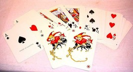 "Big Giant Vtg 4 1/2""X 7"" Ferd Piatnik & Sons Vienna Austria Playing Cards Jokers - $27.71"