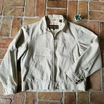 Timberland Jacket Tan Khaki Weathergear Medium M Light Weight - $23.34