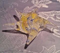 Dynasty Gallery Glass Starfish Paperweight Glow in the dark Still has ta... - $18.69