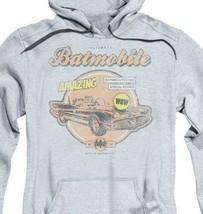 Batmobile hooded sweatshirt retro Bat-man and Robin DC comics distressed BM1904 image 2