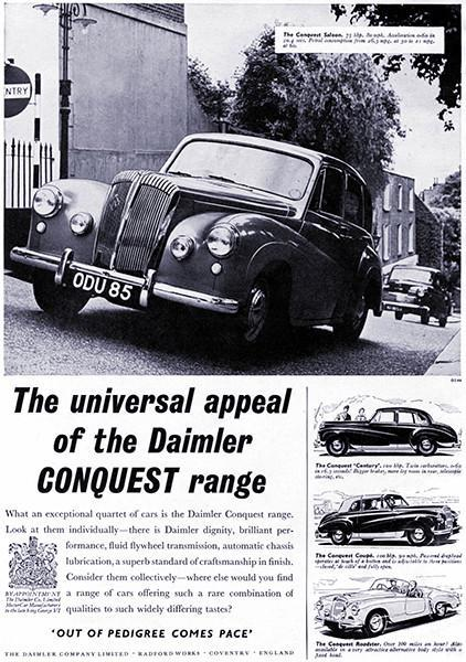 Primary image for 1954 Daimler Conquest - Promotional Advertising Poster