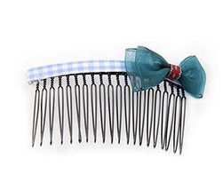 Set of 3 Children Hair Accessories National Style Hairpins and Hair Comb, Blue