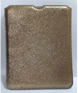 Jimmy Choo Tyler Gold Glitter Leather Ipad Sleeve Case Cover RRP £260 - $198.33
