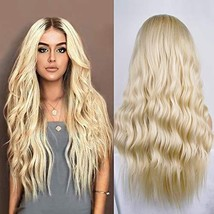 Natural And Ombre Black To Blond Synthetic Wigs for women Looking Natural Long W