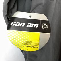 CanAm BRP XXL Mens Rain Riding Jacket 2XL FLAWED Nylon Black Spyder NWT A9-21 image 6