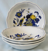 Spode Blue Bird S3274 Fine Stone Cereal Bowl Set of 4 - $118.69