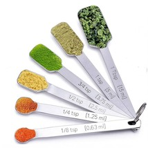 Measuring Spoons for Thin, Narrow Mouth Spice Jars (Set of 6) Measuring ... - €5,48 EUR