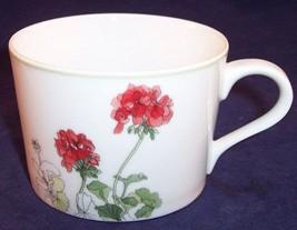 NOS Block Spal Portugal Geranium by Mary Lou Goertzen Watercolors Flat Cup - $7.99