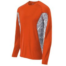 Holloway Sportswear MEN'S LONG SLEEVE TIDAL SHIRT Men's M Orange/White P... - $250,80 MXN
