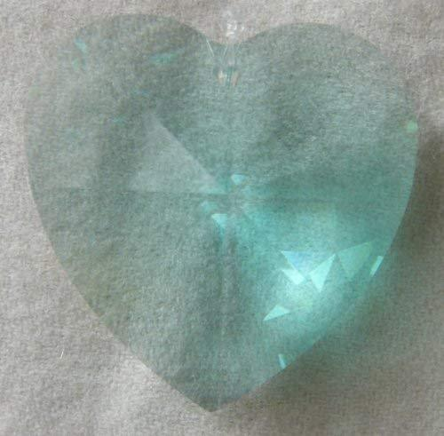 Swarovski 40mm Antique Green Large Crystal Faceted Heart