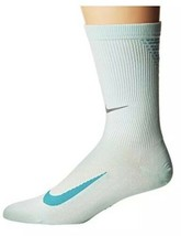 Nike Elite Run Lightweight Socks Size 10-11.5 Men Green Qtr Height SX519... - $28.01