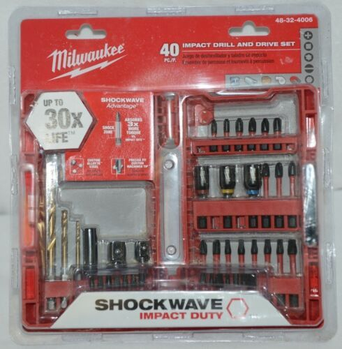 Milwaukee 48324006 Shockwave Impact Drill Drive Set 40 Pieces