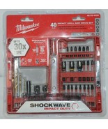 Milwaukee 48324006 Shockwave Impact Drill Drive Set 40 Pieces - $27.99
