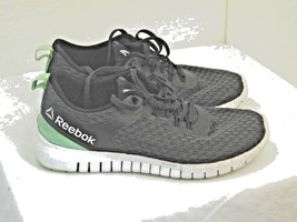 WOMENS REEBOK ATHLETIC SHOES SIZE 6 1/2  Z RATED BLACK AND GRAY WHITE SO... - $20.41