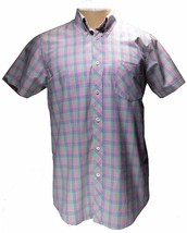 BEN SHERMAN Gingham Check Multi MENS Large Short Sleeve Slim-fit - $26.73