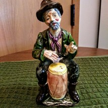 Wales Old Man Figurine Gentleman Musician Hobo Bongo Drum Porcelain Japan image 1
