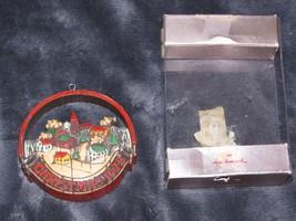 Vintage Hallmark Ornament Christmas 1975 Peace on Earth In original box - $19.79