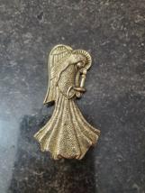 Gold Color Angel Brooch Pin (Avon?) - $3.99
