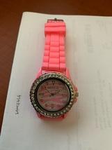 Silicone Zebra pattern crystal jelly wristwatch new - $9.95