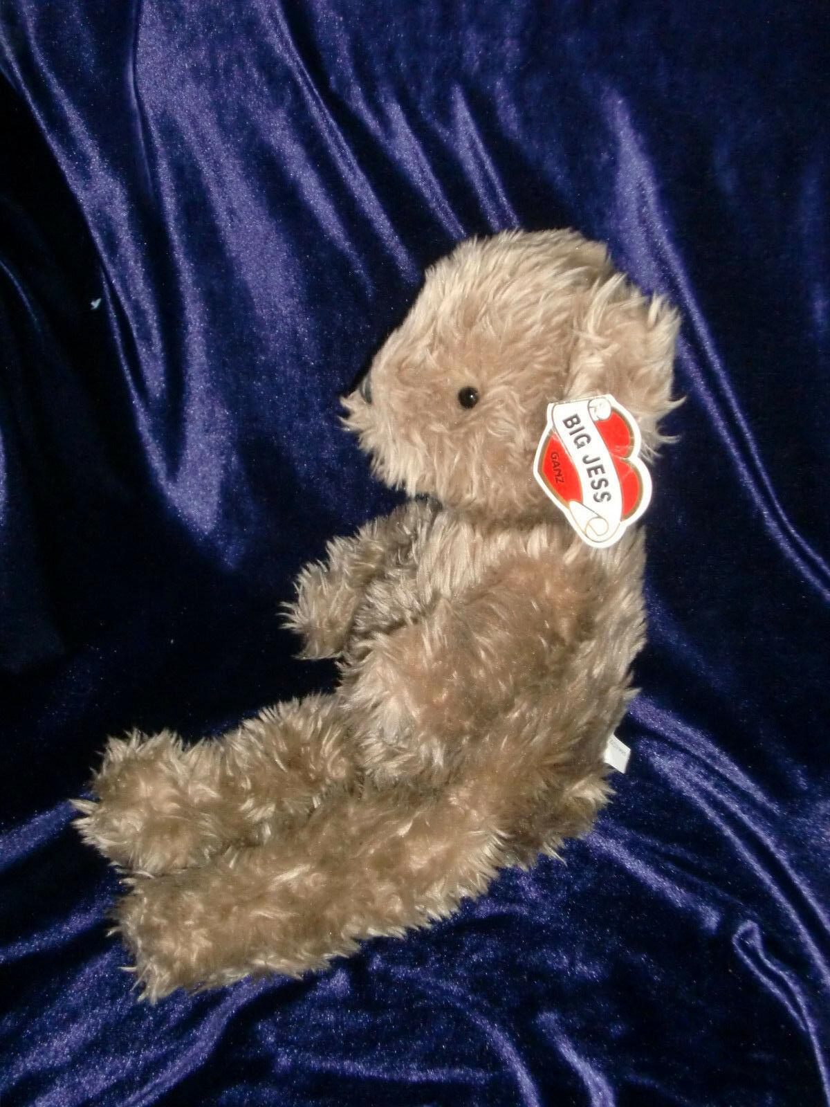 """GANZ STUFFED PLUSH BIG JESS TEDDY BEAR BROWN 16"""" NWT CH1410"""
