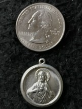 Vintage 3D Double Sided Sterling Silver Charm Religious Jesus Medal Pendant - $22.57