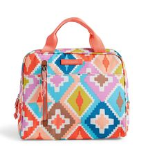 Vera Bradley Water-Repellent Lighten Up Lunch Cooler Bag, Hacienda Diamonds