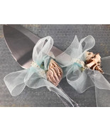 Beach Theme Cake Knife and Server Set Wedding Sweet 16 Mis Quince Anos - $39.99