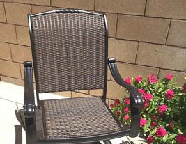 6 outdoor dining chairs Santa Clara cast aluminum powder coated patio furniture. image 2