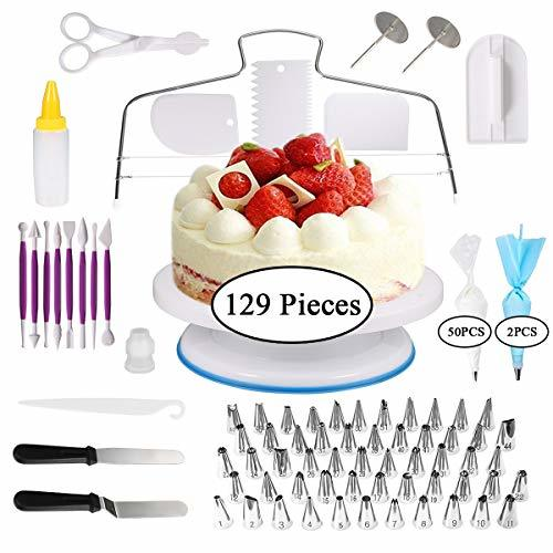 Cake Decorating Supplies, 129 PCS Cake Decorating Tips for ...